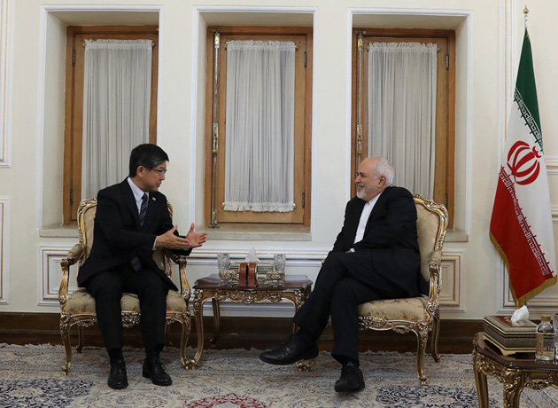 FM Zarif bids farewell to outgoing Japanese envoy