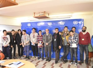 Briefing on UN (UN4U) for Mesbah Elm high school students