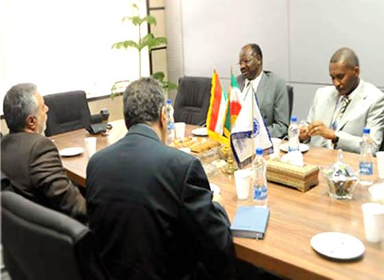 ملاقات سفیر سودان با معاون امور بینالملل اتاق ایران