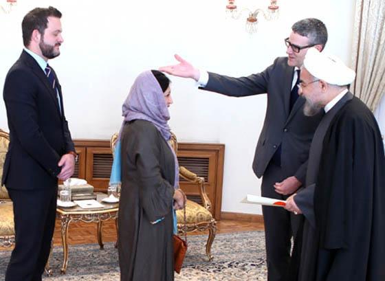 تقدیم استوارنامه سفیر جدید نیوزلند به دکتر حسن روحانی