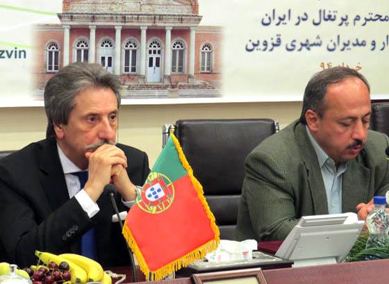 نونس:همکاری فرهنگی قزوین و پرتغال افزایش می یابد
