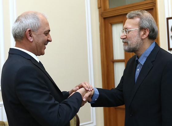 دیدار سفیر تاجیکستان در ایران با دکتر علی لاریجانی