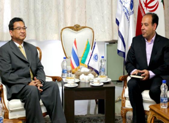 دیدار و تبادل نظر سفیر تایلند با رئیس اتاق بازرگانی ایران