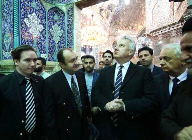 حضور رییس پارلمان و سفیر مجارستان در حرم حضرت معصومه