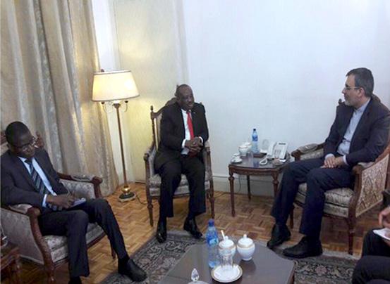 دیدار خداحافظی سفیر غنا با معاون عربی و آفریقا وزارت امور خارجه