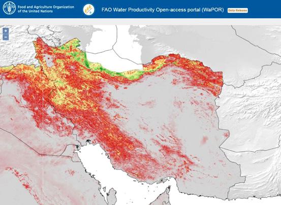 فائو ابزار ماهوارهای جدیدی به کشورهای کم آب برای تقویت بهرهوری کشاورزی ارائه کرد