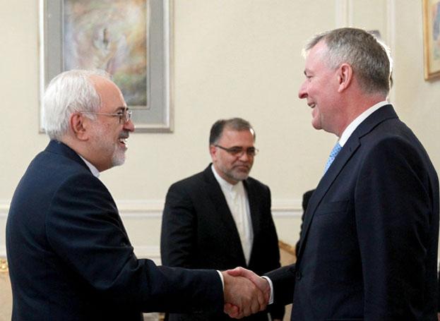 دیدار خداحافظی سفیر اتریش در ایران با وزیر امور خارجه
