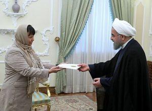 دکتر روحانی خطاب به سفیر جدید اسلوونی: امیدوارم شاهد تحولات مثبت در روابط دو کشور باشیم