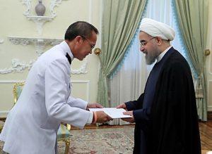 دکتر روحانی در دیدار با سفیر جدید تایلند: تهران از گسترش همکاری در همه زمینه ها با بانکوک استقبال می کند