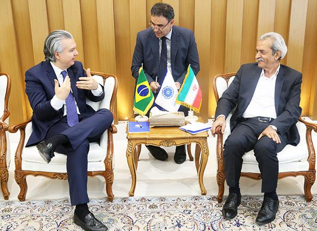 سفیر برزیل در دیدار با رئیس اتاق ایران: تراز تجاری دو کشور متعادل نیست