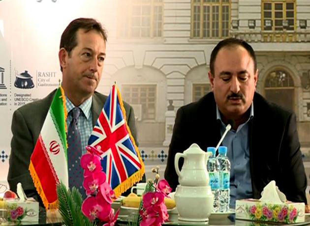 دیدار سفیر انگلیس در ایران با سرپرست شهرداری رشت