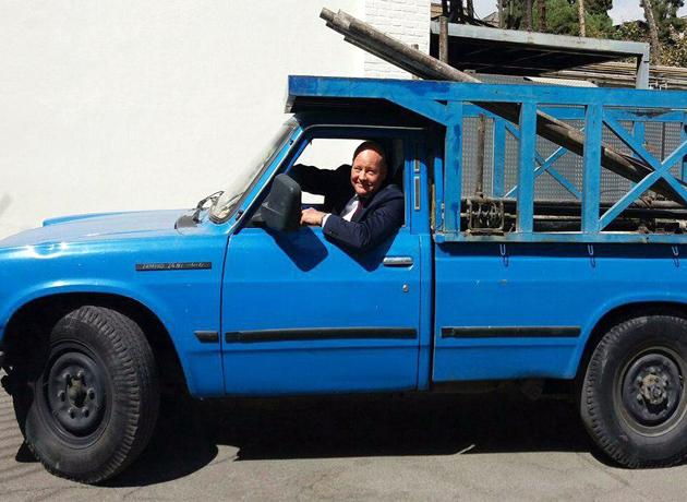 نیسان سواری سفیر آلمان در ایران