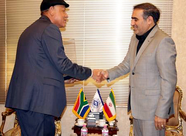دیدار سفیر آفریقای جنوبی با رئیس اتاق تعاون ایران