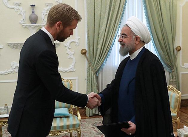 سفیر نروژ هنگام تقدیم استوارنامه به دکتر روحانی: شرکتهای نروژی توافق برجام را بسیار جدی تلقی کرده اند