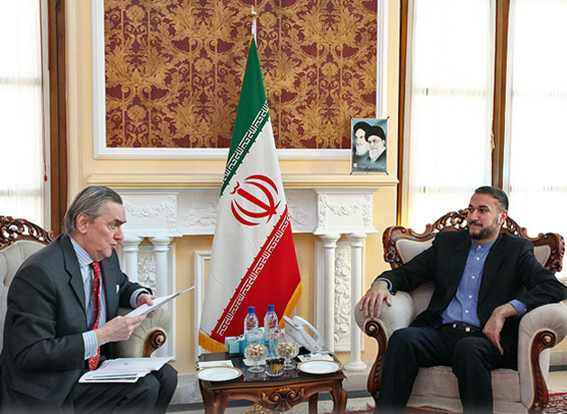 دیدار حسین امیر عبدالهیان با سفیر اروگوئه در تهران
