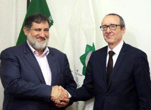 دیدار رییس سازمان مدیریت بحران ایران با سفیر اتریش