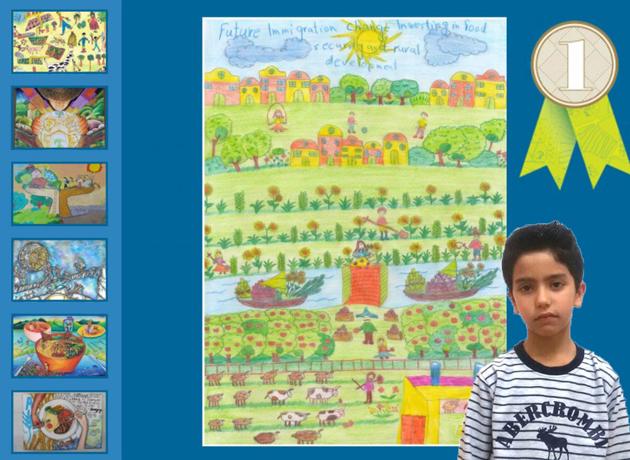 کودک ایرانی برنده مسابقه نقاشی فائو به مناسبت روز جهانی غذا شد