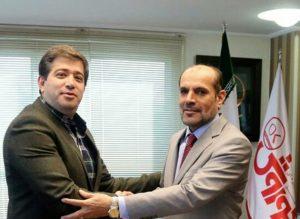 تبادل نظر معاون سفارت عمان با مدیرعامل فروشگاه های زنجیره ای افق کوروش