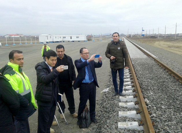 هیئت سیاسی و اقتصادی ژاپن از راه آهن آستارا بازدید کردند