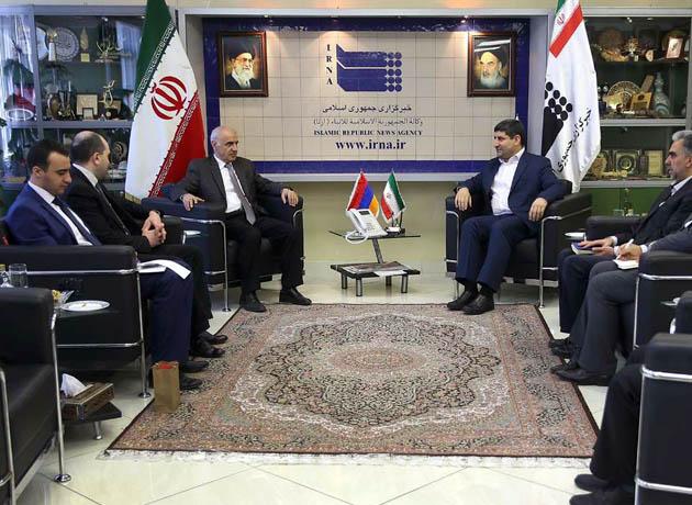 دیدار و رایزنی سفیر ارمنستان با مدیرعامل خبرگزاری رسمی دولت جمهوری اسلامی ایران