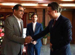 دیدار سفیر ترکیه با وزیر بهداشت درباره تحویل اجساد حادثه سقوط هواپیمای ترک