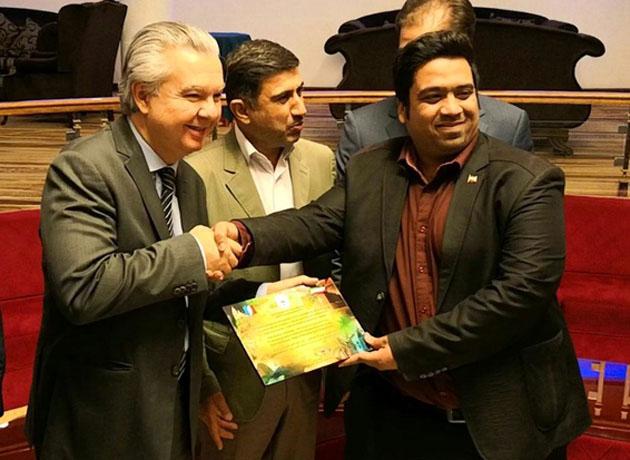 سفیر برزیل در ایران، عضو افتخاری تیم بدمینتون آبادان شد