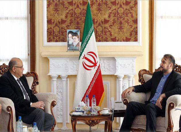 دیدار و رایزنی امیرعبداللهیان با رئیس دفتر حفاظت منافع مصر در تهران
