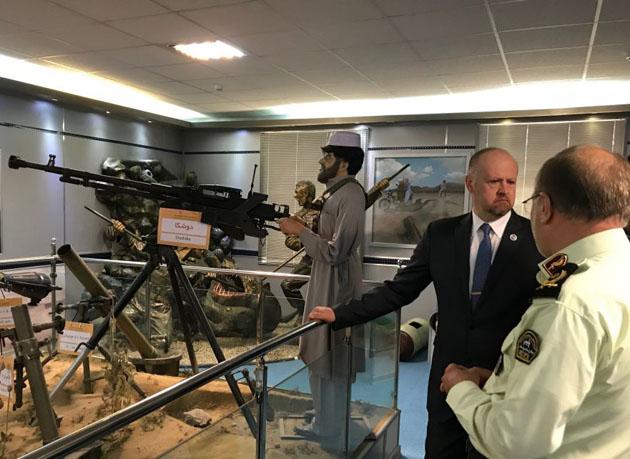 دیدار و رایزنی نماینده دفتر مقابله با مواد مخدر و جرم سازمان ملل متحد با رئیس پلیس مبارزه با مواد مخدر