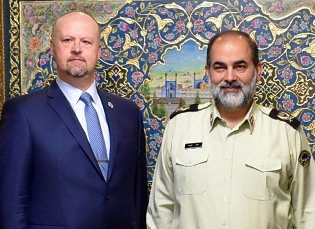 رایزنی مدیر کل اینترپل تهران با نماینده کشوری دفتر مقابله با مواد مخدر و جرم سازمان ملل متحد
