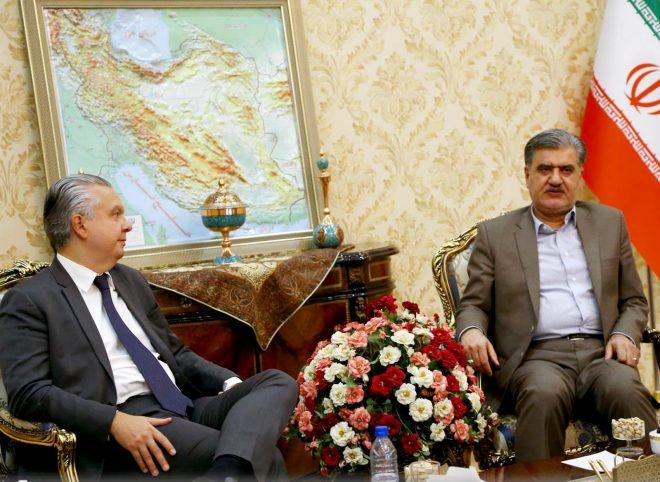 دیدار و تبادل نظر عبدالرضا عزیزی با سفیر برزیل در ایران