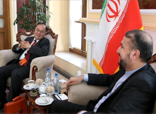 دیدار امیرعبداللهیان با سفیر ژاپن در تهران