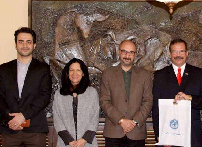 بازدید سفیر ونزوئلا از دانشکده مطالعات دانشگاه تهران