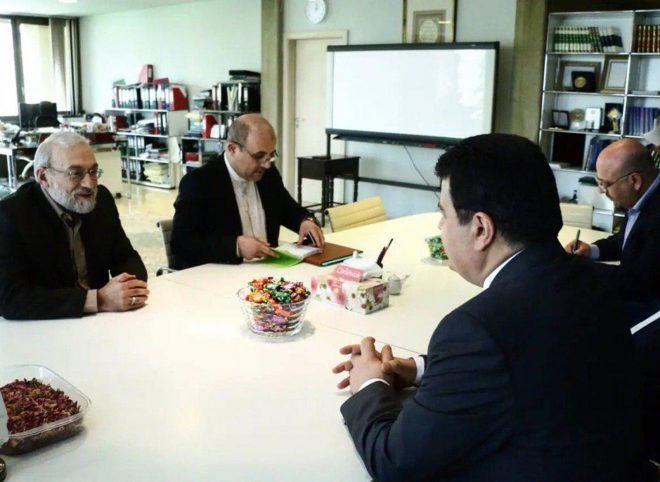 دیدار و گفتوگوی جواد لاریجانی با سفیر سوریه درباره موضوع بندیهای جولان
