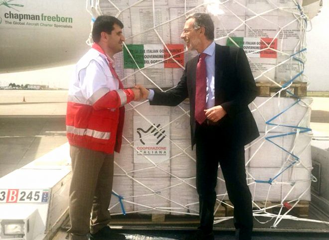 کمکهای بشردوستانه ایتالیا به سیلزدگان ایرانی