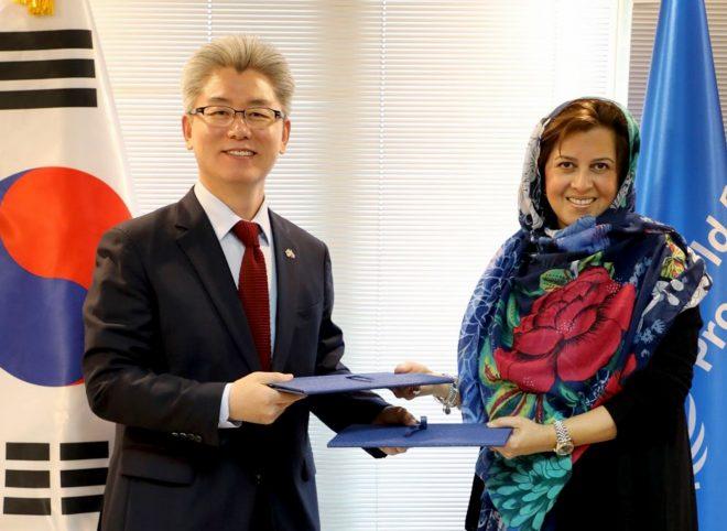 حمایت ۲ میلیون دلاری جمهوری کره از فعالیت های برنامه جهانی غذا در ایران