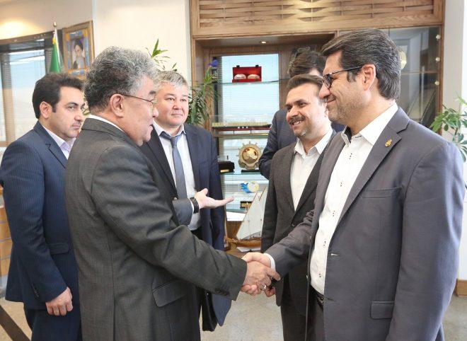 دیدار سفیر قزاقستان با مدیرعامل سازمان بنادر و دریانوردی