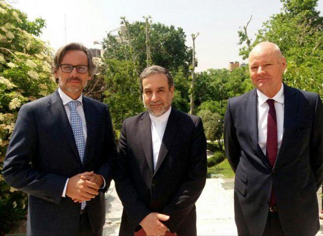 دیدار سفیر و مدیرکل سیاسی وزارت امور خارجه آلمان با عباس عراقچی