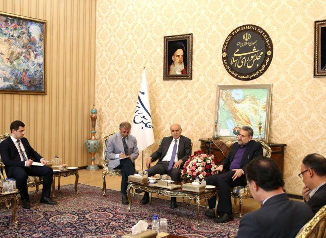 دیدار حشمت الله فلاحت پیشه با سفیر ارمنستان در تهران