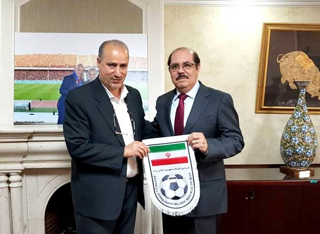 حضور سفیر نیکاراگوئه در فدراسیون فوتبال