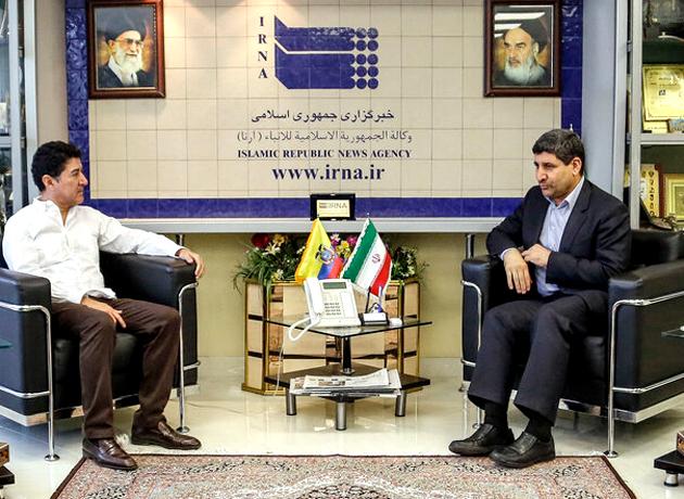 دیدار سفیر اکوادور با مدیرعامل خبرگزاری جمهوری اسلامی