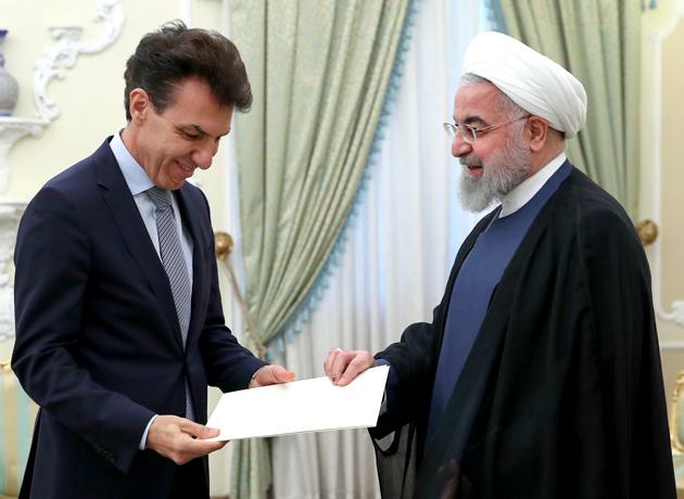 رئیس جمهور خطاب به سفیر جدید ایتالیا: اراده ایران تقویت روابط بسیار نزدیک و صمیمانه با ایتالیا است