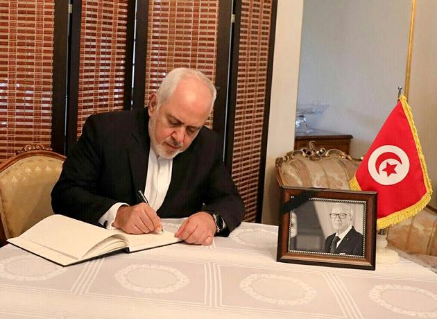حضور دکتر ظریف در سفارت تونس