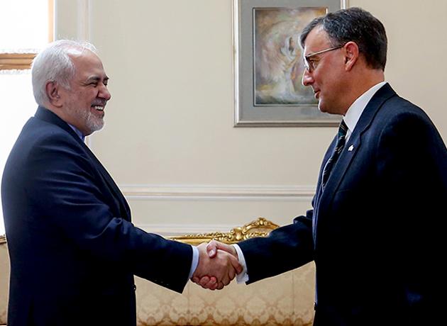 خداحافظی سفیر استرالیا با دکتر ظریف