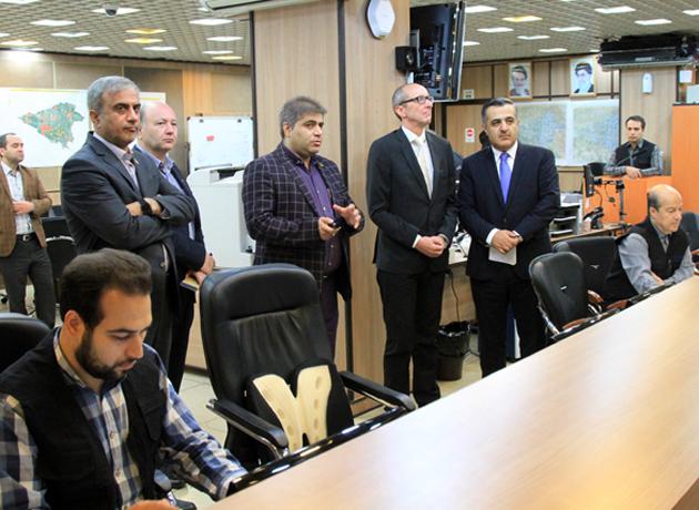 بازدید سفیر اتریش از مرکز و ستاد فرماندهی مدیریت بحران شهر تهران
