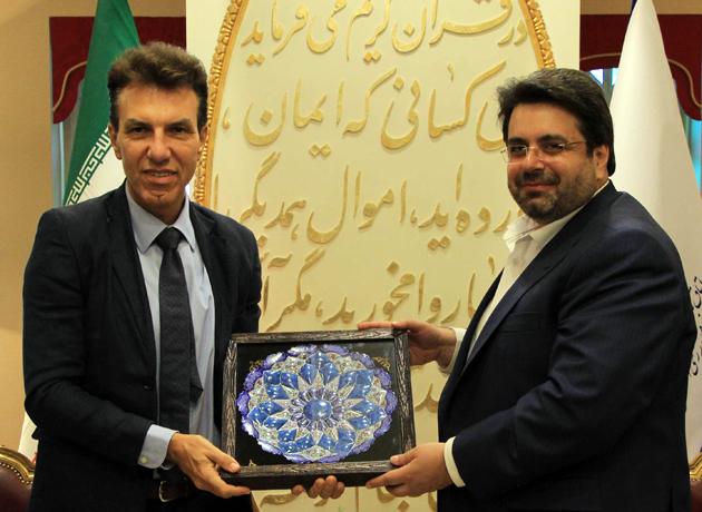 دیدار رییس اتاق بازرگانی اصفهان با سفیر ایتالیا در ایران