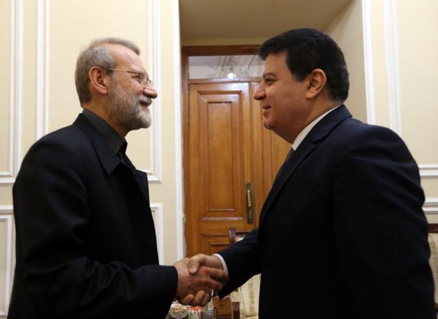 لاریجانی بر حمایت ایران از حفظ تمامیت ارضی سوریه تاکید کرد