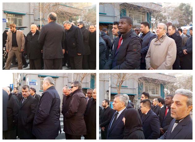 حضور جمعی از سفرای خارجی در مراسم تشییع سپهبد قاسم سلیمانی