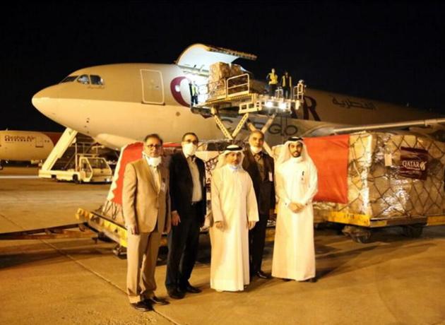 دومین محموله کمکهای دولت قطر به ایران برای مقابله با کرونا وارد تهران شد