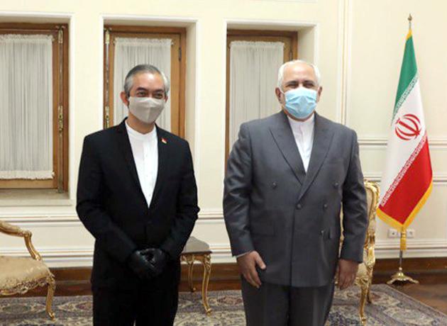 دیدار خداحافظی سفیر اندونزی با ظریف